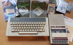 Vintage 1982 Acorn Electron Computer incl Keyboard, Software, Cassette Player