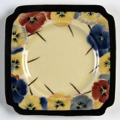 Royal Doulton Pansy Square Bread & Butter Plate Square Plate Set, China Patterns, Royal Doulton, Pansies, Tea Cups, Butter, Bread, Plates, Antiques