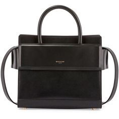 Givenchy Horizon Mini Leather Satchel Bag (6.146.720 COP) ❤ liked on Polyvore featuring bags, handbags, purses, black, hand bags, leather hand bags, givenchy handbags, mini satchel handbags and leather man bags