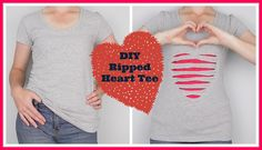 DIY Ripped Heart T-Shirt from StyleNovice – Sew, What's New?