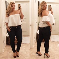 Awesome 45 Inspiring Plus Size Summer Outfits Ideas - Modetrends Curvy Outfits, Mode Outfits, Stylish Outfits, Curvy Girl Fashion, Look Fashion, Womens Fashion, Trendy Fashion, Curvy Fashion Summer, Ladies Fashion
