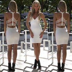Sexy tight backless dress L861354