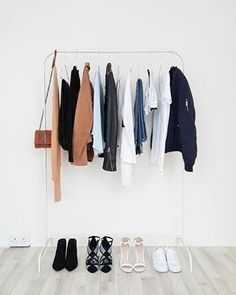 Simplicity at its best. | 17 Minimalist Wardrobes That Will Make You Want To Throw Half Your Clothes Out