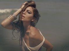 """Over The Sea"" Photographer, MUA, Hair, Styling & Editor: Jane Eyre Doyle. © 2015 Jane Eyre Photography.  #photography   #janeeyrephotography   #janeeyredoyle   #canonusers   #canon6D    #model   #beauty   #fashion   #editorial   #longhair   #sensual   #ambersym   #Irish   #ocean   #beach   #EF50mmf12l"
