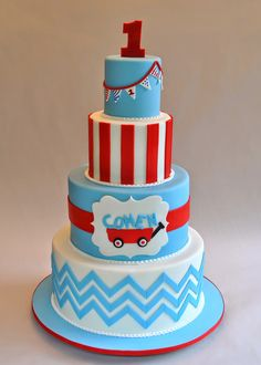 Little Red Wagon Cake, Hope's Sweet Cakes