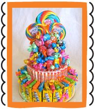 Sweet Candy Cakes - grooms cake due to dans high candy obsession. Could also be the centerpice at kids table :p