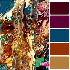 Paint Color Combos, Color Schemes Colour Palettes, Colour Pallette, Color Palate, Paint Colors, Acrylic Pouring Art, Design Seeds, Pour Painting, Color Stories