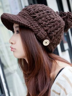 Zanzea®Woman Peaked Cap Wool Knitted Hat