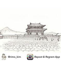 Repost from @rimo_kim 사람 없이 고요한 경복궁 근정전. Gyeonbokgung palace of Korea. #gyeongbokgung #경복궁 #근정전 #palace #korea #drawing #drawings #pen #pendrawing #드로잉 #펜 #펜드로잉 #art #illust #illustrations #traveldrawing #travelsketch #여행드로잉 #Seoul #usk #urbansketch #urbansketchers
