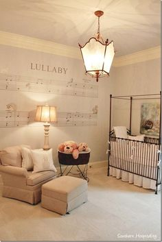 Love the music sheet on the wall great idea for the boys room Just not a lullaby maybe one of their favorite songs
