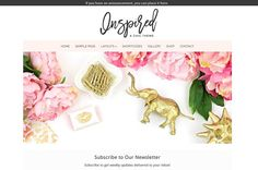 Inspired Feminine WordPress Theme by Beautiful Dawn Designs on @creativemarket