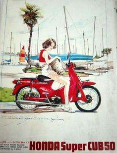 私が生まれて初めてバイクに跨ったのは中学2年の時でした。 洗濯屋のお兄ちゃんが集配に使っているスーパーカブ50(C100)が気になって気になって、家の近くに来る度に乗らせて乗らせてとせがむ...