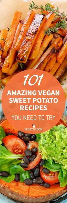 Vegan Sweet Potato Recipes | Best Vegan Sweet Potato Recipes | Healthy Sweet Potato Recipes | Vegan Diet Recipes | → VegByte.com | #vegansweetpotatorecipes #bestsweetpotatorecipes #veganfoodrecipes via @vegbyte