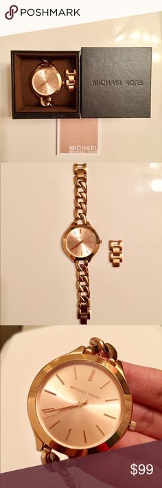 Michael Kors Rose Gold Watch EUC - Gently worn. Please check photos of minor wear. Michael Kors Accessories Watches