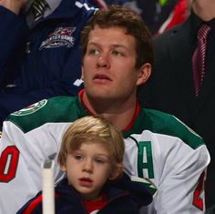 Ryan Suter and son Brooks, 2015 NHL All Star game.