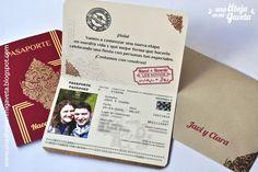 Una abeja en mi gaveta: Pasaporte para una boda (invitaciones)