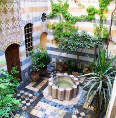 Courtyard in Damascus