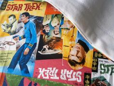 Star Trek Spock Kirk sci fi Blanket for Baby by carouselbelle