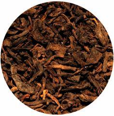 """""""Té Rojo Excelente"""" Té rojo Pu-Erh, debe su excelente sabor al seleccionar las hojas una a una. 6€ / 100 gr."""