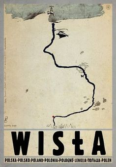 Wisla Check also other posters from PLAKAT-POLSKA series Original Polish poster autor plakatu: Ryszard Kaja data druku: 2014 wymiary plakatu: ok. Poster City, Typography Prints, Graphic Poster, Art Deco Posters, Illustrations And Posters, Postcard, Polish Posters, Modern Poster, Polish Poster