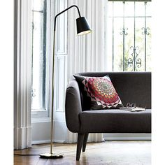 Thoroughly modern floor lamps. Whether you have a downtown loft, a retro bungalow or a sprawling space, CB2 offers stylish floor lamps to light your way.