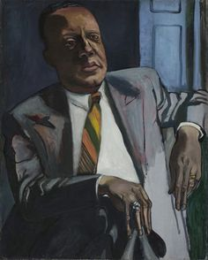 Horace Clayton, oil on canvas, 30-1/6 x 24 in., 1949, by Alice Neel