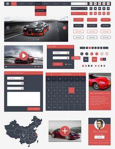Zan UI Free UI Kit #flatuikits #flatdesign #uikits