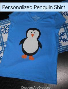 make a homemade penguin shirt