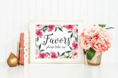 Wedding Sign Wedding Favor Print Favors von MooseberryPaperCo