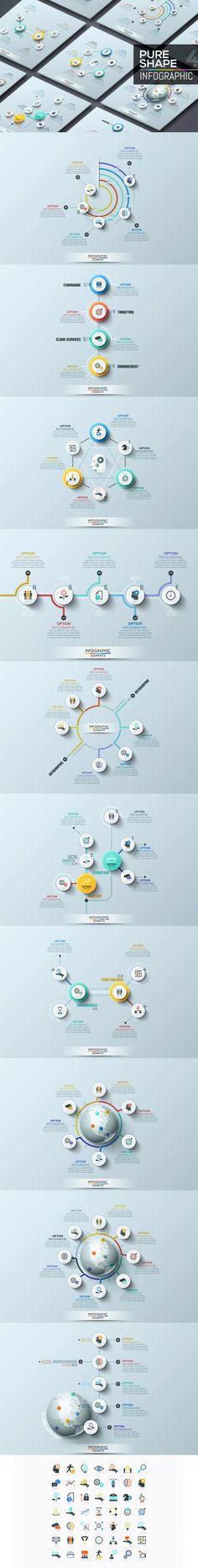 Pure Shape Infographics Templates AI, EPS, PSD