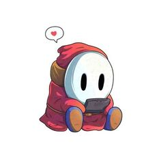 Shy guy from Mario Super Mario Bros, Mundo Super Mario, Super Mario Kunst, Super Mario World, Super Mario Brothers, Super Smash Bros, Shy Guy, Yoshi, Art Visage