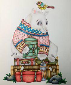"""204 Likes, 25 Comments - Sonia (@soniacolor) on Instagram: """"Osito viajero de #sagorochsägner de #emelielidehällöberg #coloringforadults #colorpencil…"""""""