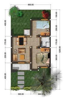 denah rumah minimalis 1 lantai tipe 36