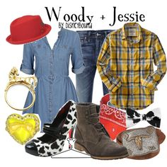 Woody + Jessie, created by lalakay on Polyvore