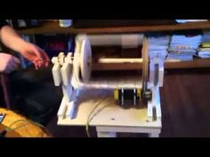 Homemade electric spinning wheel - YouTube