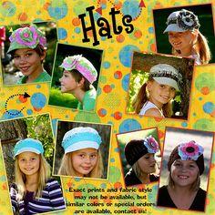 The cutest custom made hats... sooooo cute!