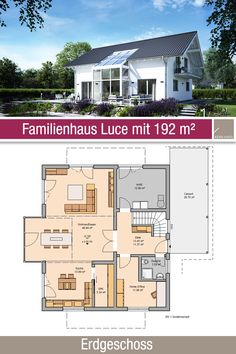 Familienhaus Grundriss 192 m 5 Zimmer Erdgeschoss Swimming Pools Backyard, Swimming Pool Designs, Bungalows, Paint Your House, Wall Treatments, House Floor Plans, Ground Floor, My Dream Home, Home And Living