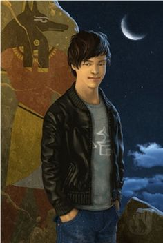 Anubis in human form--from the Kane Chronicles. He looks like what Percy LOOKS like on the cover of Son of Sobek.