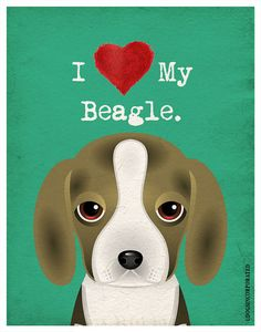 I Love My Beagle  I Heart My Beagle  I Love My by DogsIncorporated, $20.00