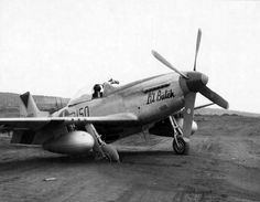 "P-51D 44-63822 ""Lil Butch"" #150 of the 47th Fighter Squadron 15th Fighter Group Iwo Jima 12 April 1945"