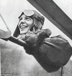 Amelia Earhart July 24, 1897–disappeared 1937) - aviation pioneer and author. Earhart was the first woman to receive the U.S. Distinguished Flying Cross, awarded for becoming the first aviatrix to fly solo across the Atlantic Ocean. She set many other records, wrote best-selling books about her flying experiences and was also a member of the National Woman's Party, and an early supporter of the Equal Rights Amendment. She disappeared during a flight over the central Pacific Ocean.