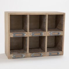 I was looking for something like this for the phone center! OWEN DESK CUBBY NATURAL from World Market    $39.99