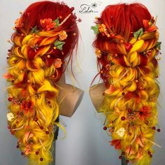 too much yellow for my complexion but gorgeous - Hair Colour Hair Dye Colors, Cool Hair Color, Fire Hair Color, Pelo Multicolor, Fantasy Hair, Fantasy Makeup, Hair Reference, Drawing Reference, Grunge Hair