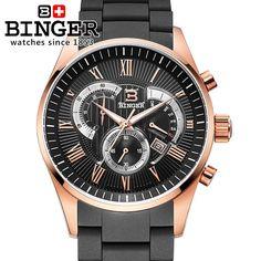 >> Click to Buy << Switzerland watches men luxury brand Wristwatches BINGER Quartz watch full stainless steel Chronograph Diver glowwatch BG-0407-5 #Affiliate