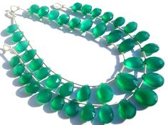 Green Onyx Faceted Pear Semiprecious Stone Beads by beadsogemstone, $14.81