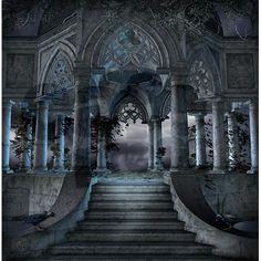 Gothic Mausoleum Shower Curtain on CafePress.com
