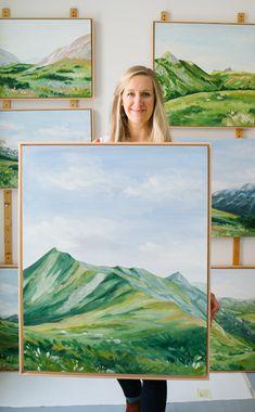 Landscape Art, Landscape Paintings, Mountain Paintings, Paintings I Love, Painting Inspiration, Art Pictures, Photo Art, Art Drawings, Art Photography