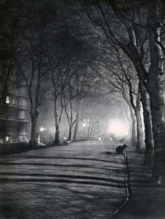 With his collaborator John Morrison, Harold Burdekin photographed the streets of the city of London in the dark for his bookLondon Night,published in 193
