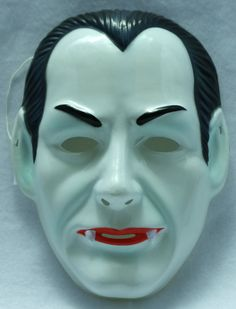 Vintage Dracula Halloween Mask by TheWildRobot on Etsy