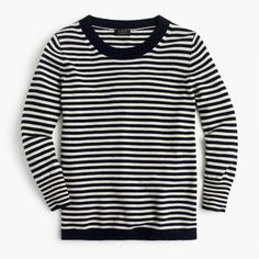 Shop the Striped Crewneck Sweater In Featherweight Everyday Cashmere at J.Cew and see the entire selection of Women's Sweaters. Free Shipping Available.